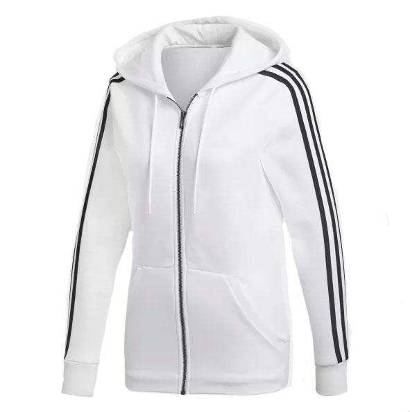 6d85752f1 adidas Essentials 3 Stripes Full Zip Women's Hoodie - 2XS / White/Black