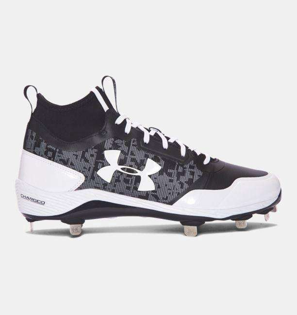 Under Armour Heater Mid ST Metal Baseball Cleats - League Outfitters