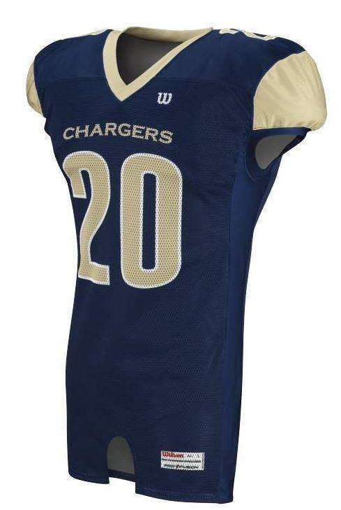 Wilson Adult Sublimated Football Jersey - Chargers - League Outfitters