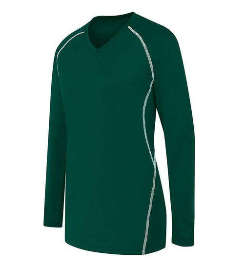 High Five Solid Ladies Long Sleeve Volleyball Jersey - League Outfitters