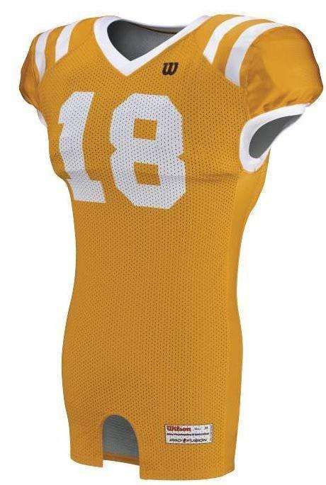 Wilson Youth Sublimated Football Jersey - Gold - League Outfitters 447e19c6d