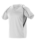 Alleson 2 Button Henley Baseball Jersey - League Outfitters