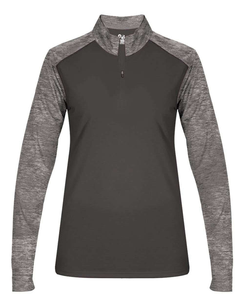 Badger Sport Tonal Blend Ladies 1/4 Zip - League Outfitters