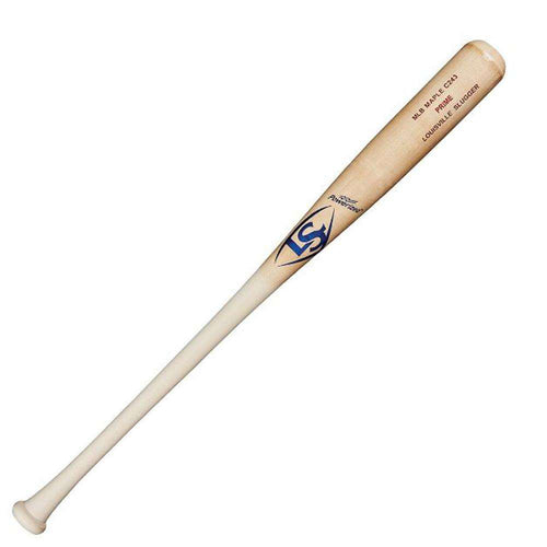 Louisville Slugger MLB Prime C243 Natural Maple Wood Baseball Bat - League Outfitters