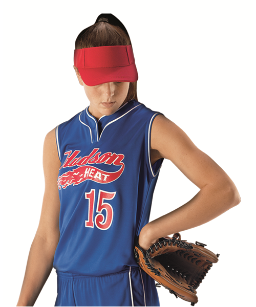 Alleson Women's Sleeveless Fastpitch Jersey w/ Piping - League Outfitters