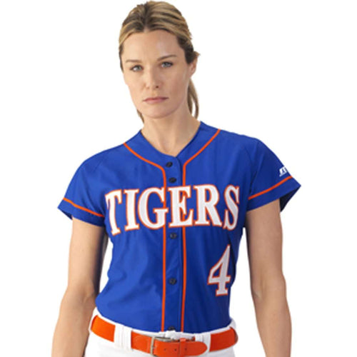 Russell Women's Stretch Faux Button Front Jersey - League Outfitters