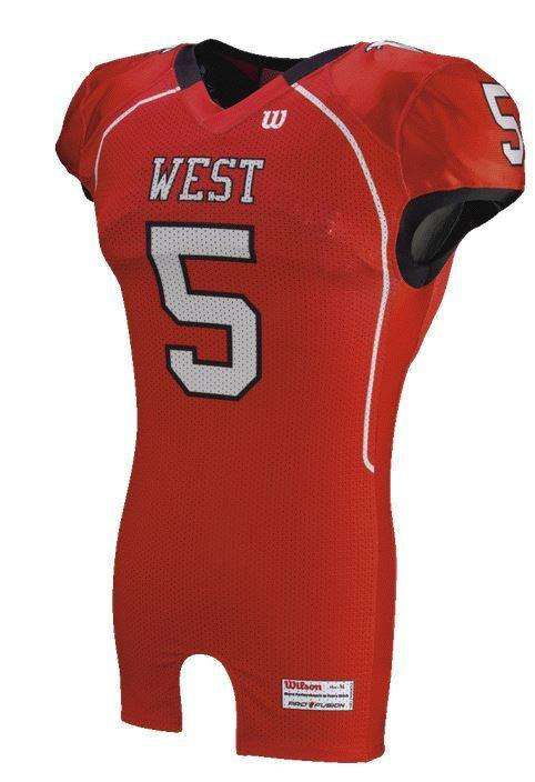 Wilson Youth Sublimated Football Jersey - West - League Outfitters 15760b21b