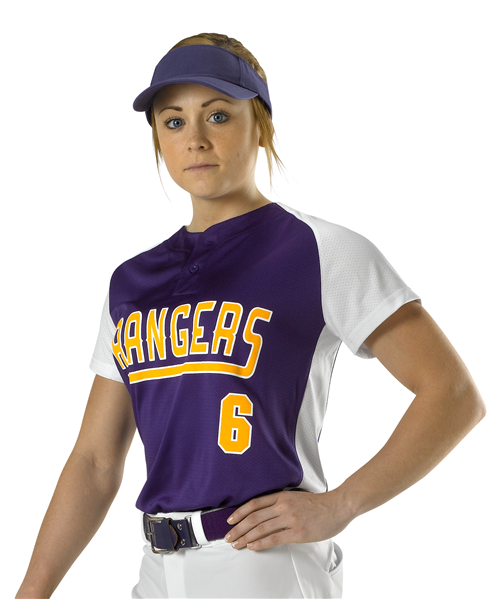 Alleson Fastpitch Women's Two Button Jersey - League Outfitters