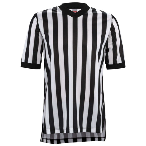 "Adams 1"" Stripe Short Sleeve Women's Basketball Referee Shirt - League Outfitters"