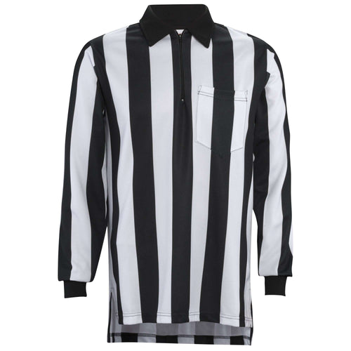 "Adams 2 1/4"" Stripe Long Sleeve Football Referee Shirt - League Outfitters"
