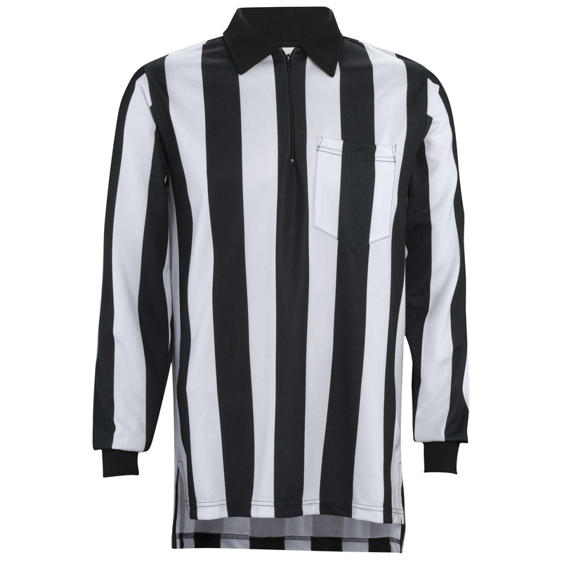 "Adams 2"" Stripe Long Sleeve Football Referee Shirt - League Outfitters"