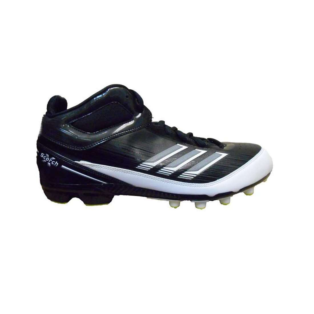778632d55 adidas AS SMU Scorch X Field Turf Football Cleats - 9.5   Black White-Slime