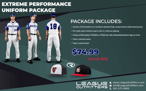 Extreme Performance Baseball Uniform Package - League Outfitters