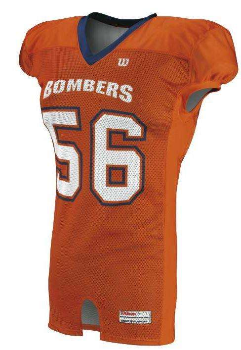 Wilson Adult Sublimated Football Jersey - Bombers - League Outfitters