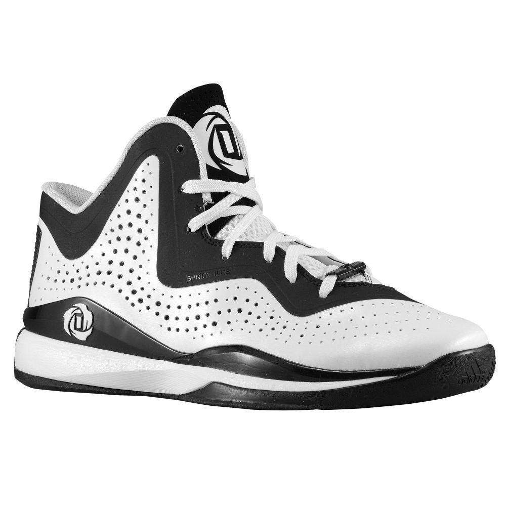 best service cce38 90d12 adidas D Rose 773 III Mens Basketball Shoes - 5.5  WhiteCool BlackWhite