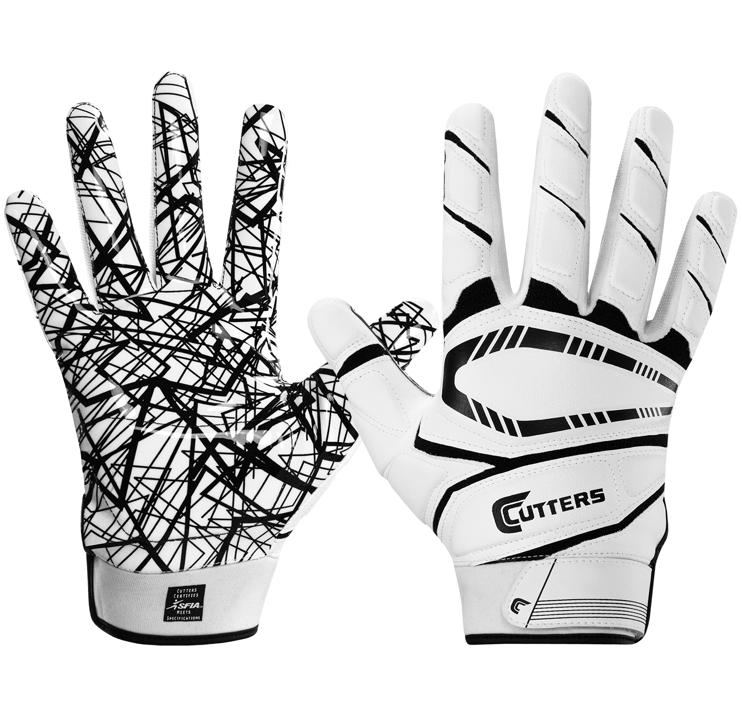 Cutters Game Day Adult Padded Football Gloves - League Outfitters