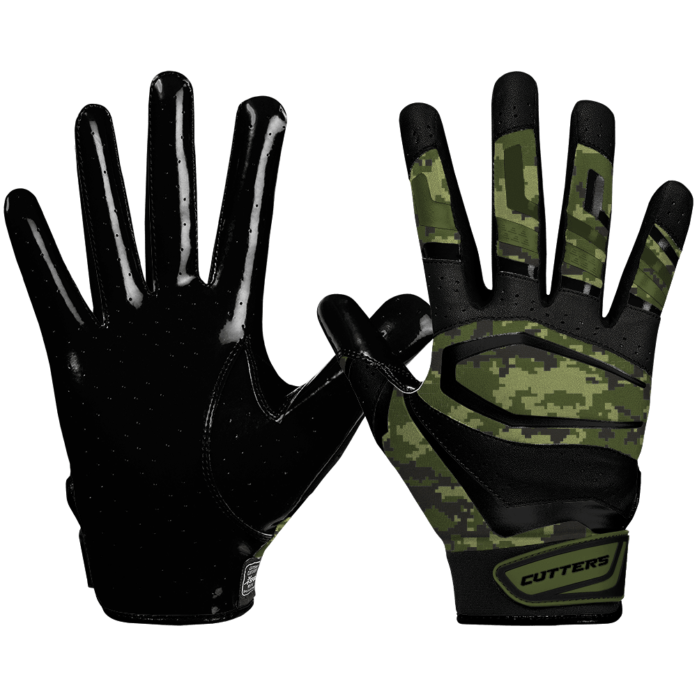 Cutters Rev Pro 3.0 Camo Adult Football Receiver Gloves - League Outfitters