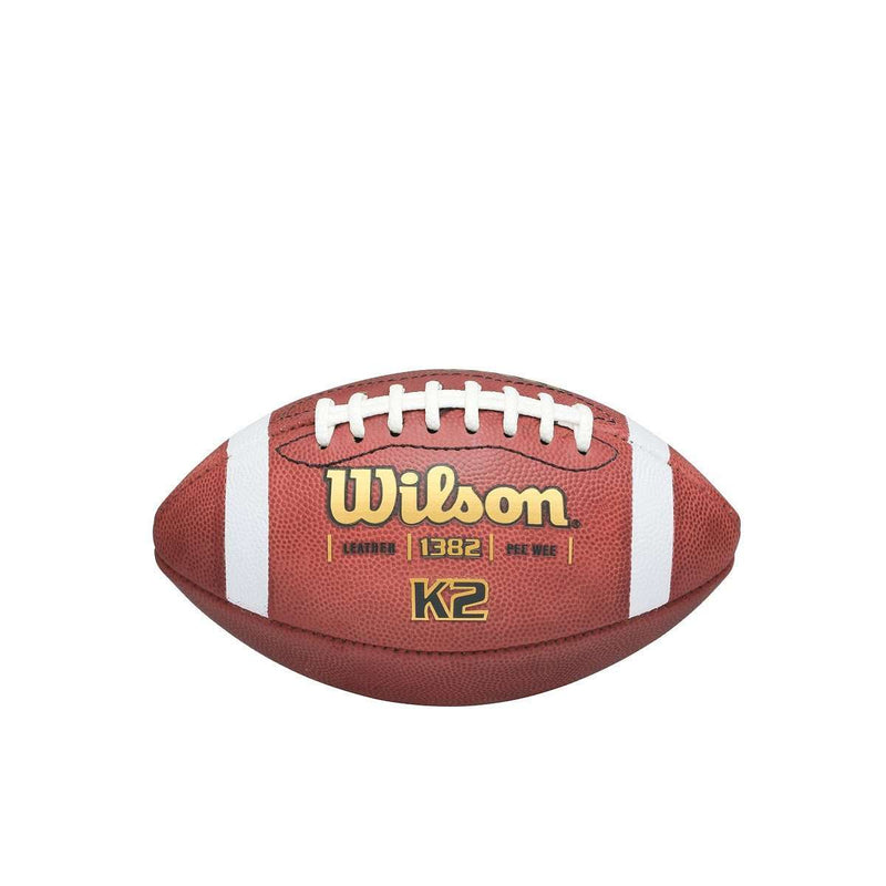 Wilson K2 Traditonal Leather Football - League Outfitters