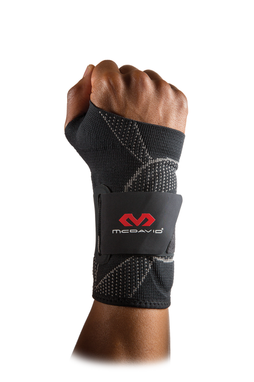 McDavid 4-Way Elastic Wrist Sleeve w/Gel Buttresses & Straps - League Outfitters