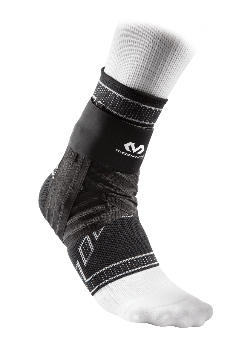 McDavid Elite Engineered Elastic Ankle Brace w/ Figure-6 Straps & Stays - League Outfitters