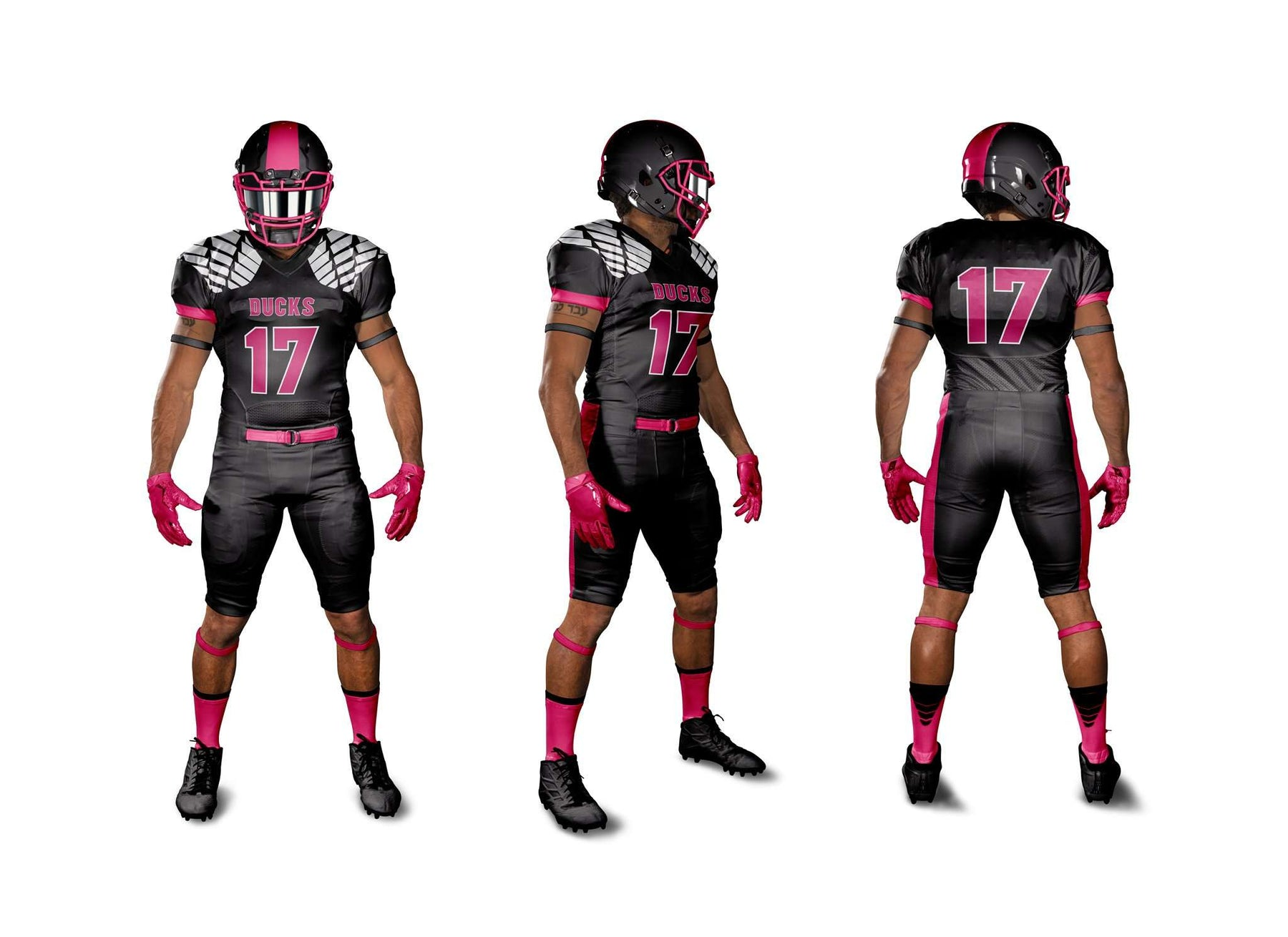 e2a92f705 Sublimated Breast Cancer Awareness Football Jersey – League Outfitters