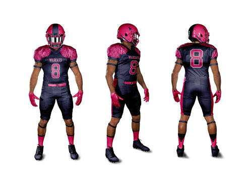 Sublimated Breast Cancer Awareness Football Jersey - League Outfitters