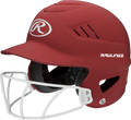 Rawlings Coolflo Highlighter Adult Softball Batting Helmet w/ Faceguard - League Outfitters