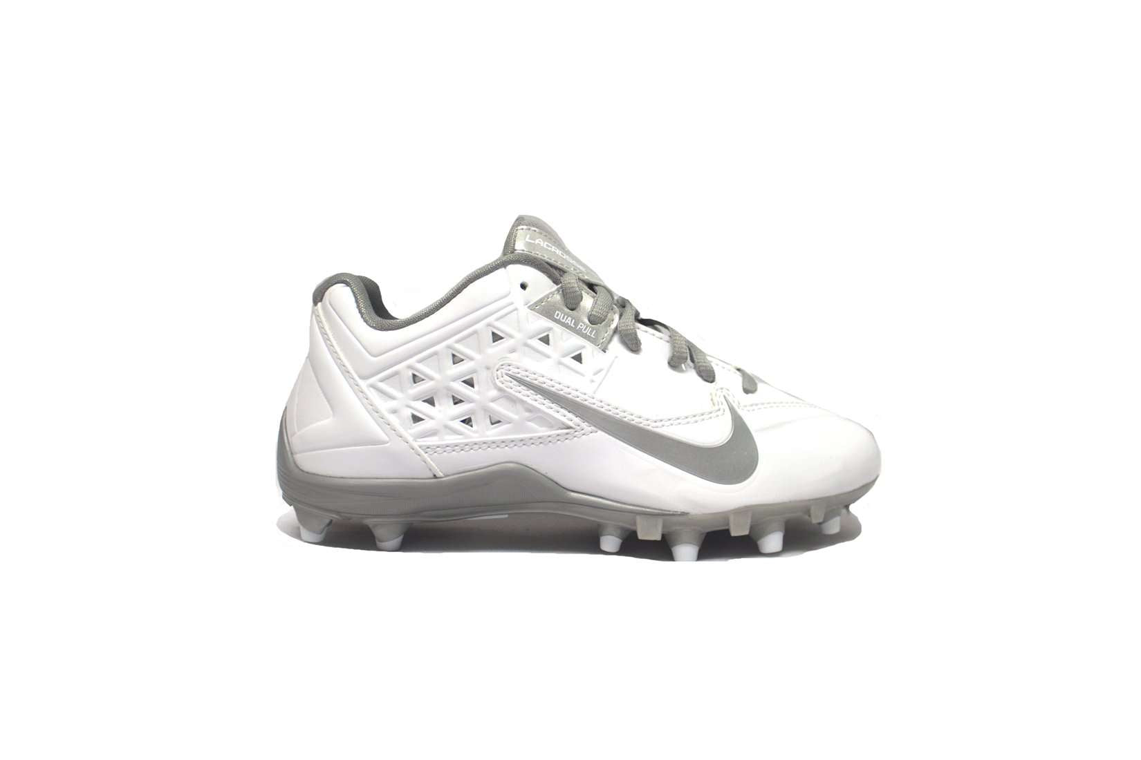 9395853fc6aa Nike Women's Speedlax 4 Lacrosse Cleats - 5 / White/Metallic Silver