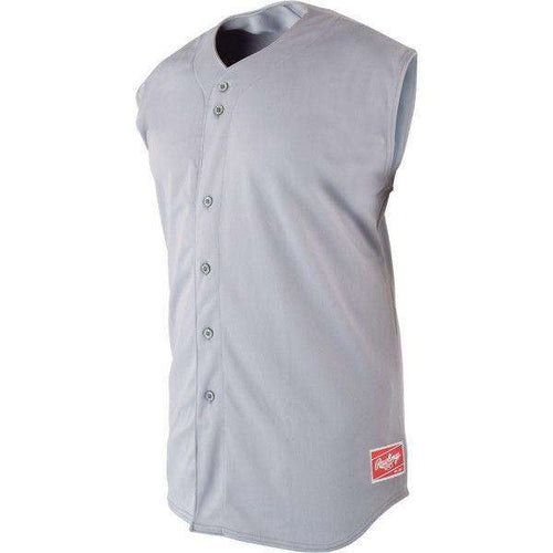 c524c42a4 Rawlings Full Button Sleeveless Baseball Jersey - League Outfitters