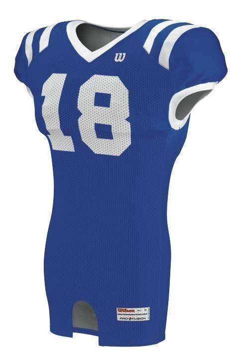 Wilson Adult Sublimated Football Jersey - Royal Blue - League Outfitters