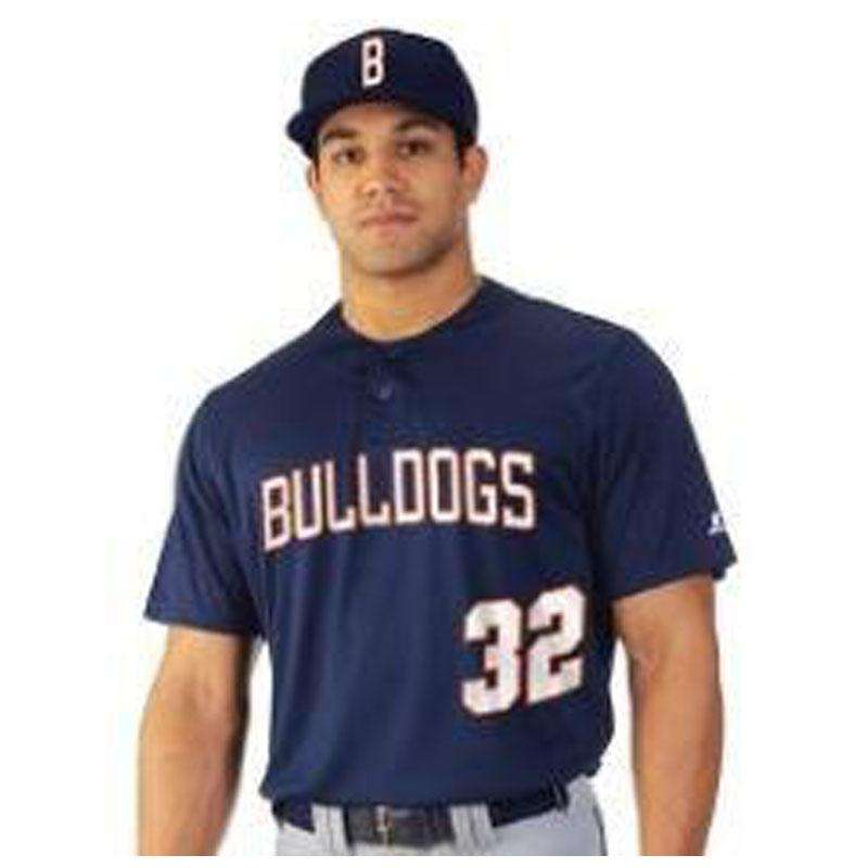 Russell Two Button Solid Placket Jersey - League Outfitters