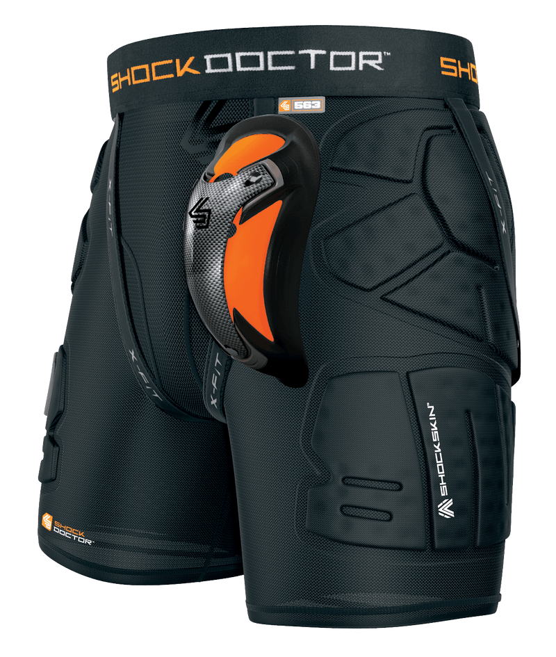 Shock Doctor ShockSkin LAX Relax Fit Adult 5-Pad Short w/Ultra Carbon Flex Cup - League Outfitters