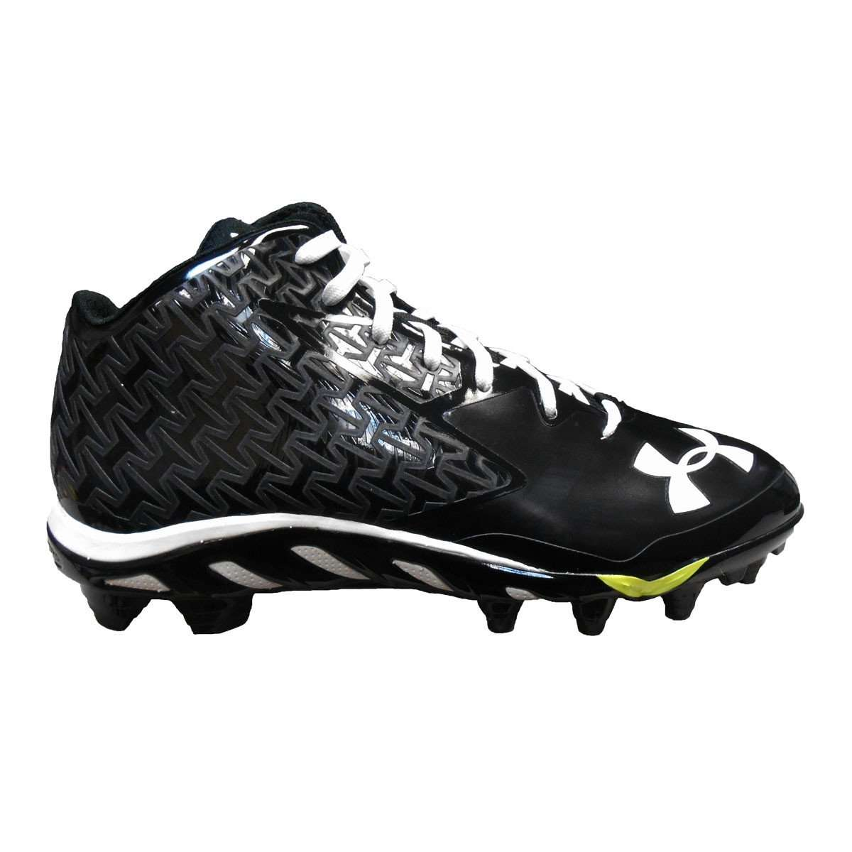 52506a61681b Under Armour Team Spine Nitro Mid MC Football Cleats - 10 / White/Black/Red