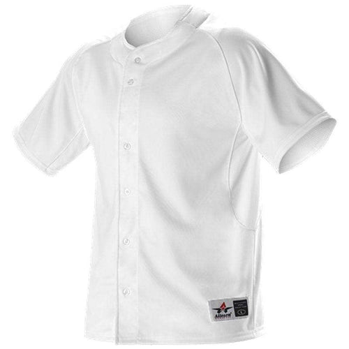 Alleson Youth Warp Knit Full Button Front Baseball Jersey - League Outfitters