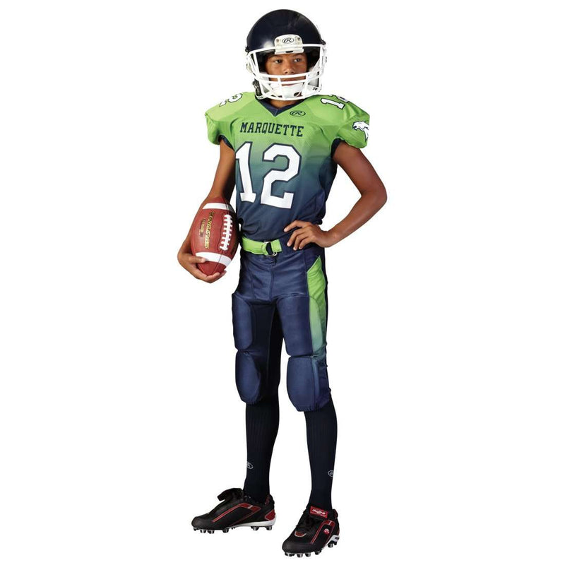 Rawlings Adult Sublimated Football Jersey - Marquette - League Outfitters