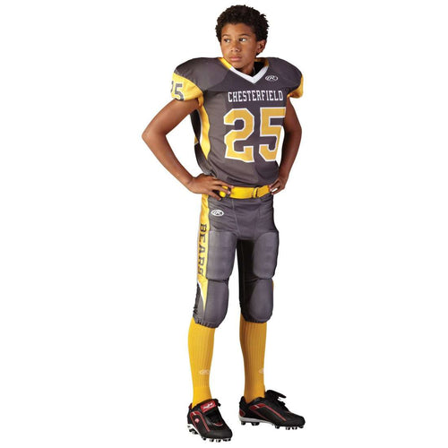 adult full length compression fit custom football jersey  rawlings adult  sublimated football jersey chesterfield league outfitters 169e33f05