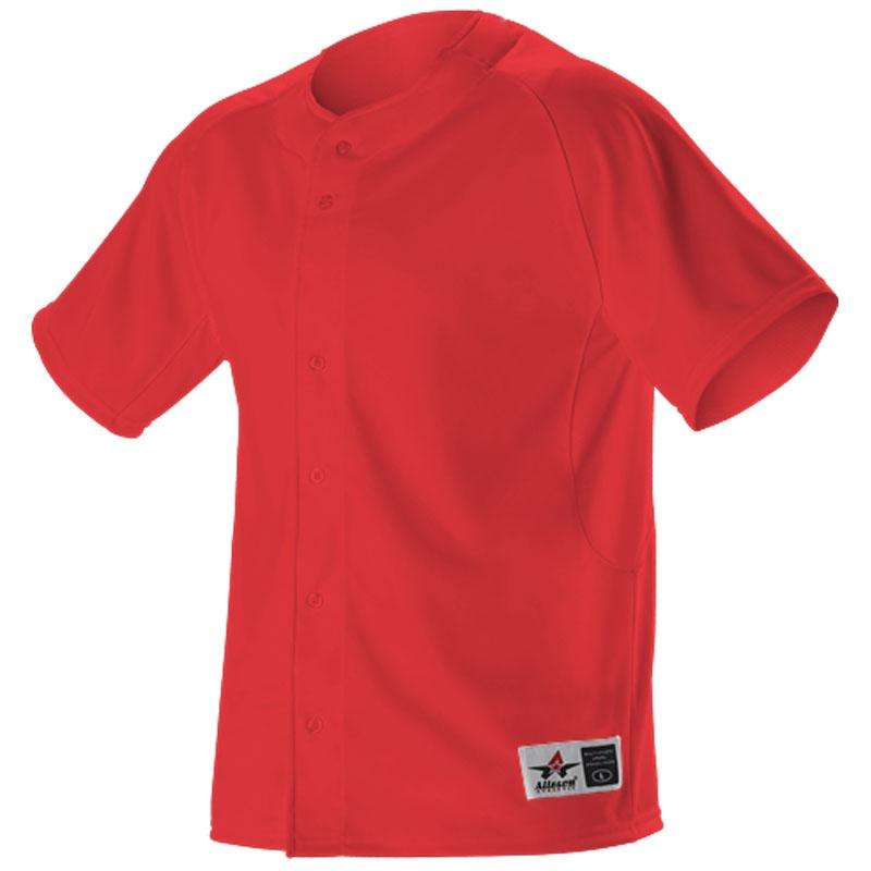 5ae16a24e ... Alleson Youth Warp Knit Full Button Front Baseball Jersey - League  Outfitters