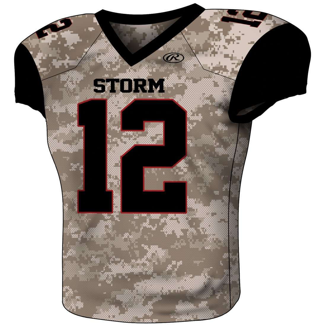 51d560de0 Rawlings Youth Sublimated Football Jersey - Storm – League Outfitters