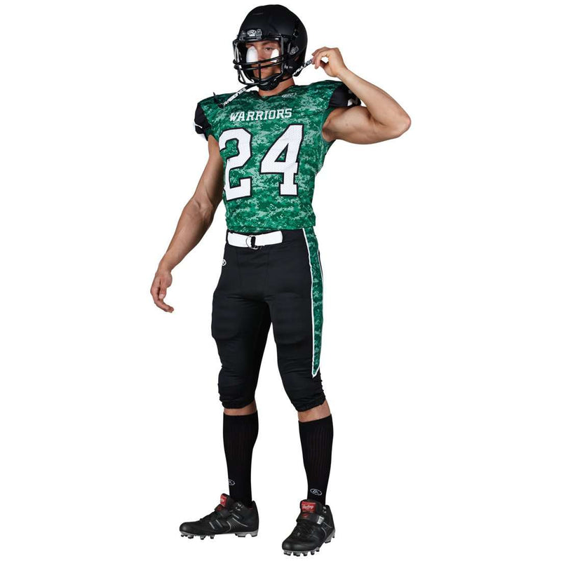 Rawlings Adult Sublimated Football Jersey - Warriors - League Outfitters