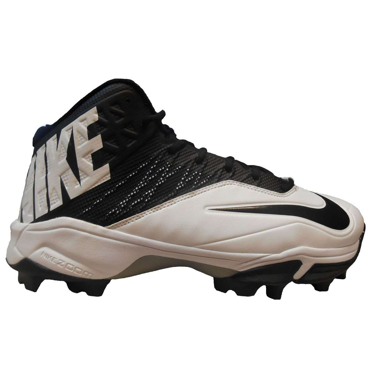 new concept 4ad00 dd151 Nike Zoom Code Elite Pro Shark Wide Football Cleats - 12.5   White Black