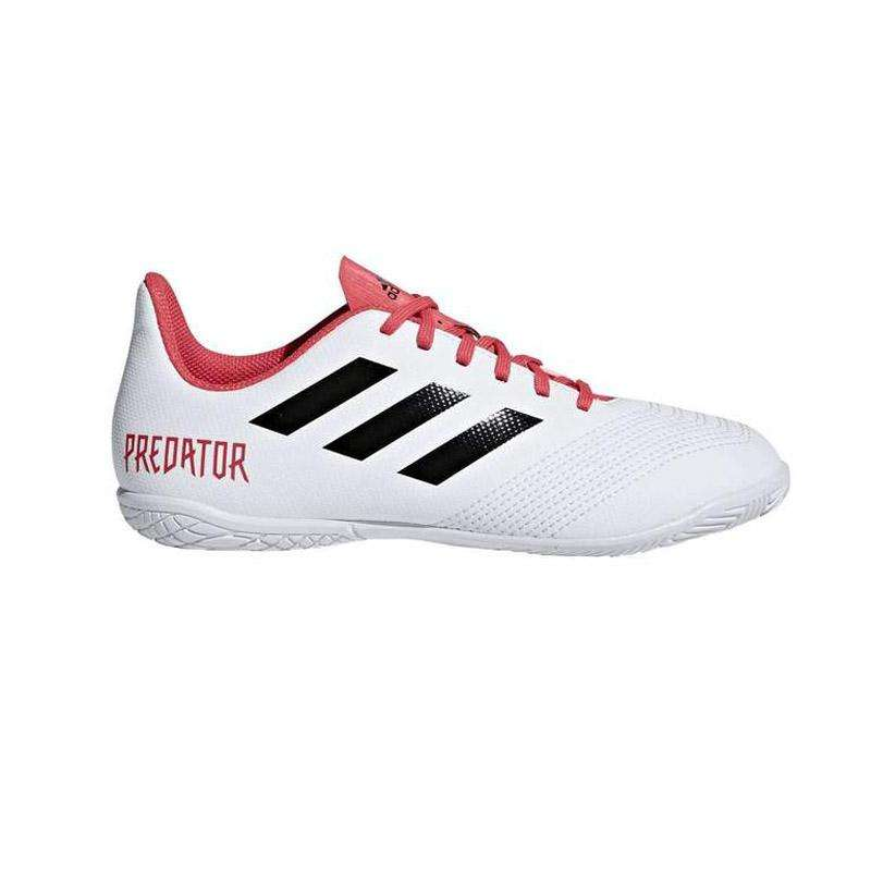 best service 56469 604be adidas Predator Tango 18.4 Youth Indoor Shoes - 10.5K   Future White Core  Black Real Coral