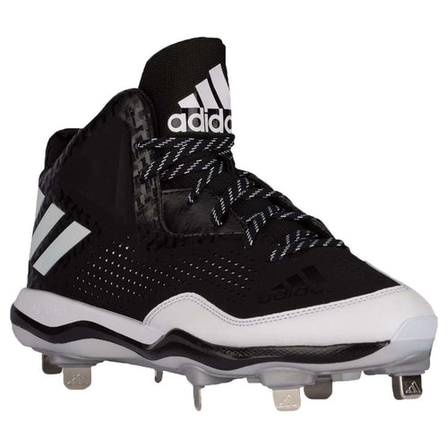 adidas PowerAlley 4 Mid Metal Baseball Cleats - League Outfitters