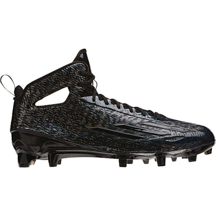 adidas Men's adizero 5-star 4.0 Mid Football Cleats - 8.5 / Core Black/Core  Black/Core Black