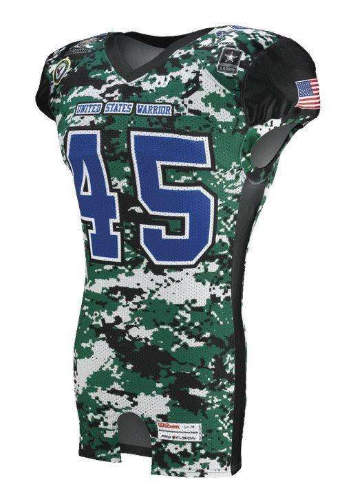 Wilson Adult Sublimated Football Jersey - Warriors - League Outfitters