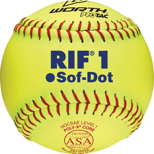 "Worth 11"" RIF1 ASA Fastpitch Training Softball - Individual - League Outfitters"