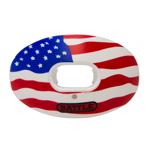 Battle Oxygen American Flag Football Mouthguard - League Outfitters