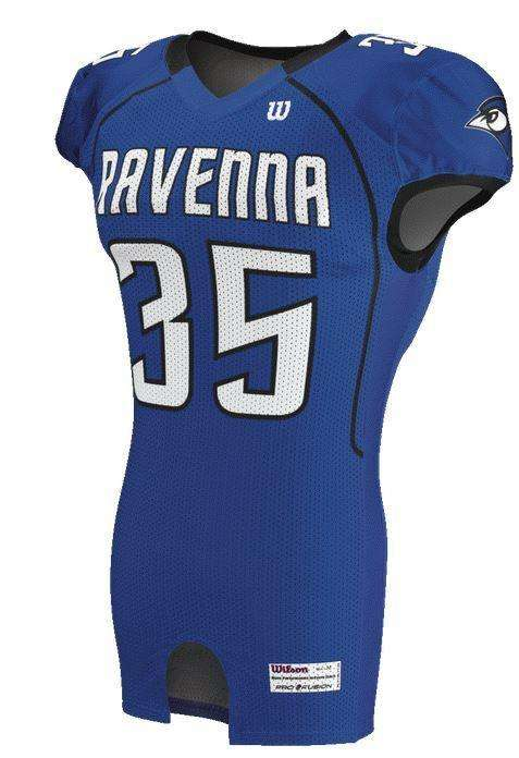 Wilson Adult Sublimated Football Jersey - Ravenna - League Outfitters