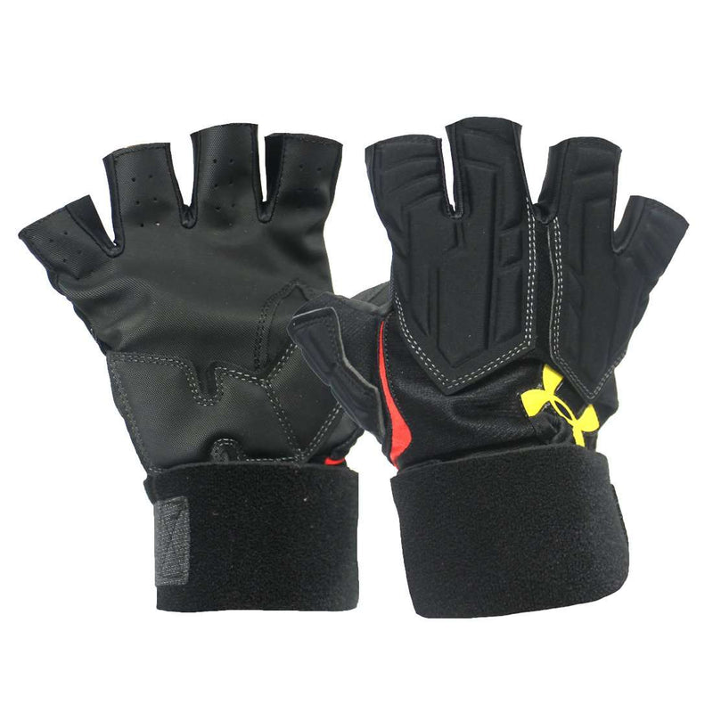 Under Armour Combat Half Finger UMD Football Gloves - League Outfitters