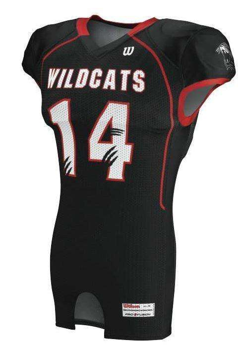 Wilson Youth Sublimated Football Jersey - Wildcats - League Outfitters