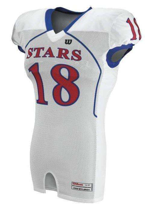 Wilson Youth Sublimated Football Jersey - Stars - League Outfitters 04ea07b51
